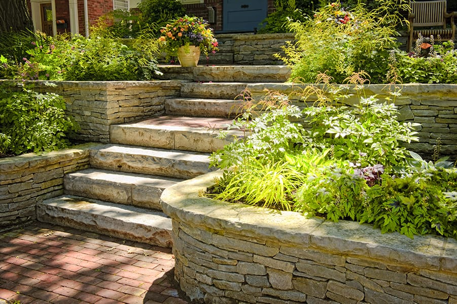 Custom Stone Stairways For Home Outdoor Areas In Lexington Ky